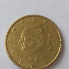 Monedas con errores: MONEDA 10 CENTIMOS DE EURO ERROR EXCESO METAL BELGICA 2010.CIRCULADA.. Lote 220388375