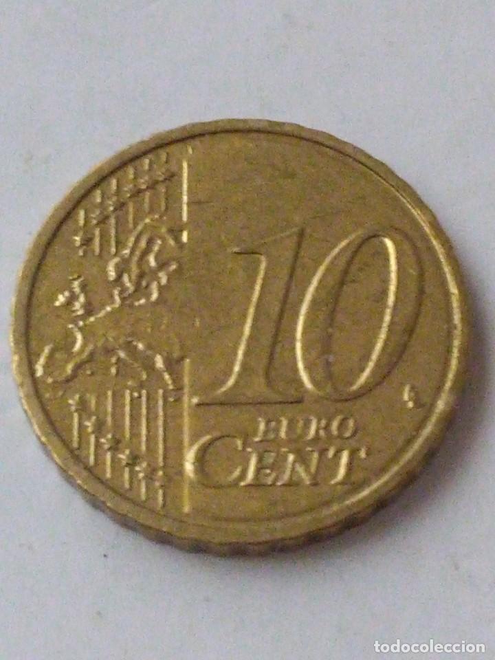 Monedas con errores: MONEDA 10 CENTIMOS DE EURO ERROR EXCESO METAL BELGICA 2010.CIRCULADA. - Foto 5 - 220388375