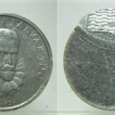 Monedas con errores: MEDALLA DE PEDRO DE ALVARADO IMPORTANTE ERROR. Lote 220440767