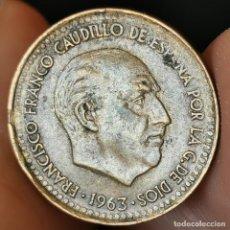 Monedas con errores: ERROR VARIOS DEFECTOS DE ACUÑACIÓN. 1 PESETA 1963 *65. Lote 220840118