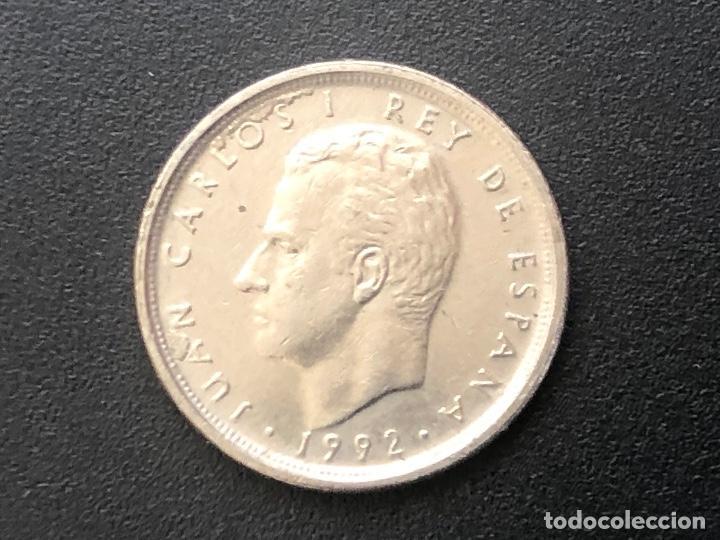 Monedas con errores: Extraordinaria moneda de 10 pesetas 1992 errores anverso y reverso - Foto 4 - 221382406