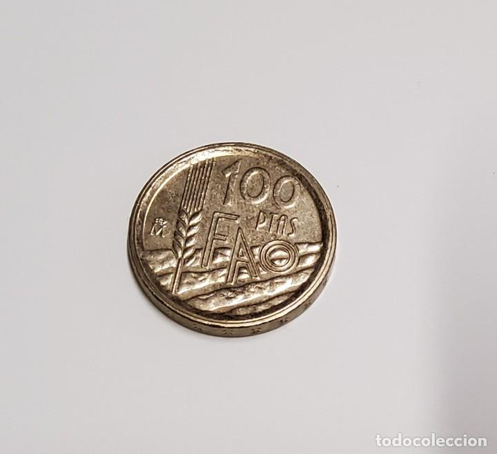 Monedas con errores: 100 pesetas de España del año 1995. VARIANTE DE CANTO ANCHO.SIN CIRCULAR - Foto 2 - 221780357
