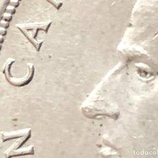 Monedas con errores: 5 PESETAS 1975 REMARCADA Y EXCESO METAL. Lote 221874591
