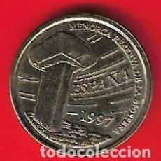 Monnaies avec erreurs: ESPAÑA 5 PTS 1997 BALEARES VARIANTE CON LETRAS Y DETALLES DOBLES Y UNA PIEZA NORMAL. Lote 223845905