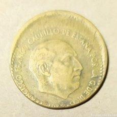 """Monnaies avec erreurs: PESETA DE FRANCO DE 1963 *63 , """""""" MUY DESPLAZADA'"""". Lote 224107716"""