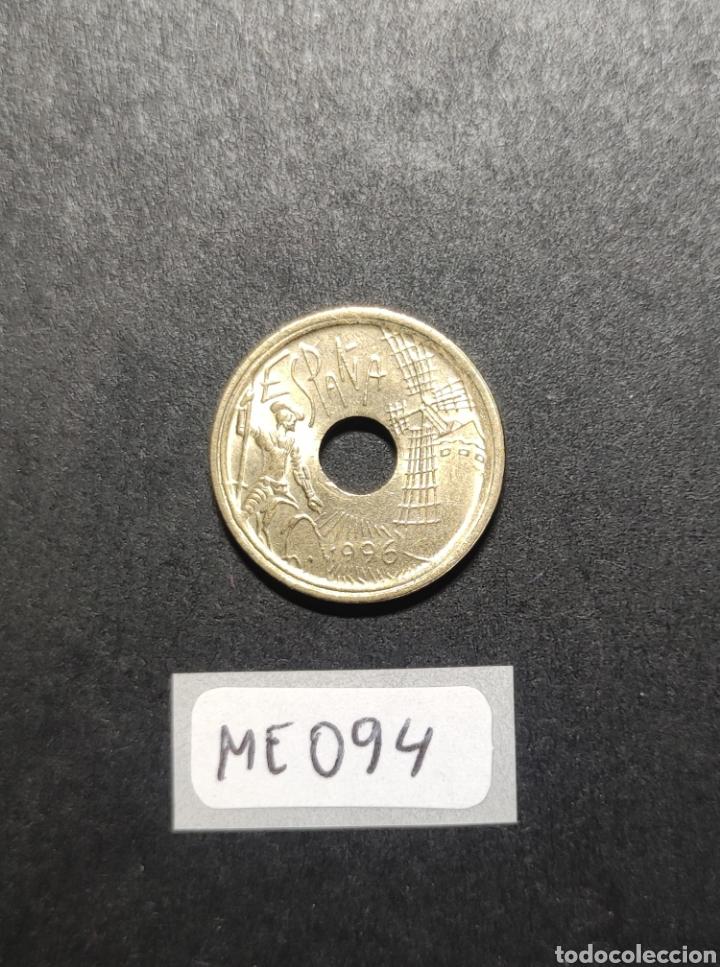 MONEDA 25 PESETAS 1995.CASTILLA-LA MANCHA.JUAN CARLOS I.ESPAÑA.CANTO ANCHO. (Numismática - España Modernas y Contemporáneas - Variedades y Errores)