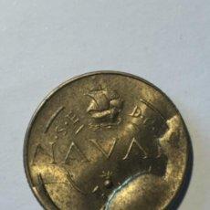 Monedas con errores: * ERROR ESPECTACULAR * 1 PESETA MCMXLVIII (1948) PRUEBA LA NAVAL CUÑO DESCANTILLADO. Lote 161278173