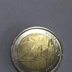 Monedas con errores: * ERROR * PRECIOSO ERROR. 2 EURO AÑO 2001 ESPAÑA ACUÑACIÓN DESPLAZADA. N2. Lote 231804050