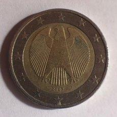 Monedas con errores: !! MONEDA RARA 2 EUROS DE ALEMANIA 2002 (CECA F) ERROR EN METAL EN LA ESTRELLA.. Lote 235405955