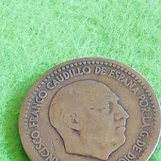Monedas con errores: UNA PESETA DE 1947 ESTRELLA 56. USADA. ERROR DE ACUÑACIÓN. FRANCO.. Lote 235445245