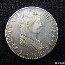 Monedas con errores: FERNANDO VII. 8 REALES 1822 ZACATECAS MEXICO. FALSA, BAÑADA EN PLATA. Lote 235887755