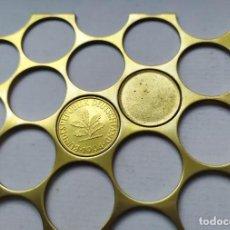 Monedas con errores: RARA PLANCHA O RIELERA DE 10 PFENNIG ALEMANES (FOTOS NUEVAS). Lote 84663032