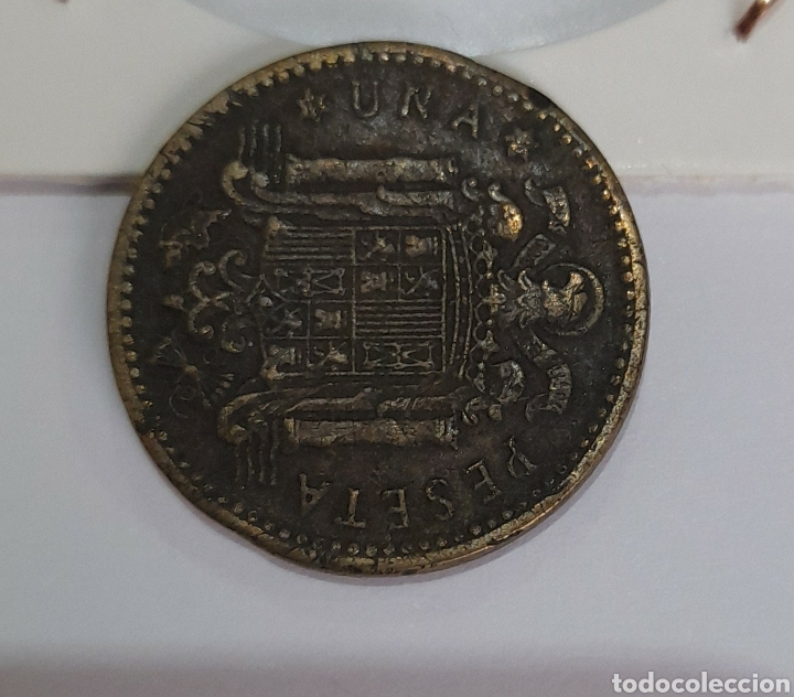 Monedas con errores: 1 Peseta Error 1953 Franco. Ver fotos. - Foto 6 - 242968880