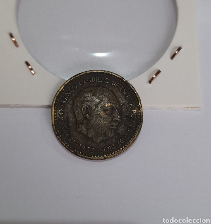 Monedas con errores: 1 Peseta Error 1953 Franco. Ver fotos. - Foto 11 - 242968880