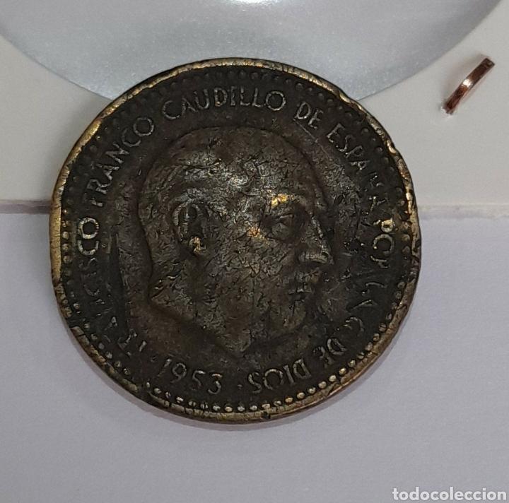 1 PESETA ERROR 1953 FRANCO. VER FOTOS. (Numismática - España Modernas y Contemporáneas - Variedades y Errores)