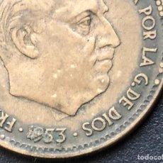 Monedas con errores: 2,5 PESETAS 1953 ERROR. Lote 242983455
