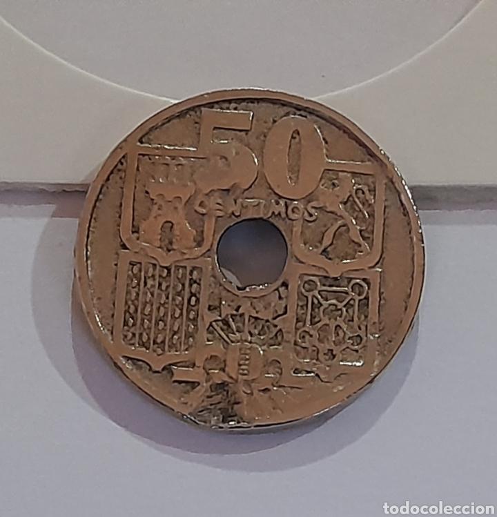 Monedas con errores: 50 Céntimos 1949 *E *51 con error de acuñación. Ver fotos y descripción. - Foto 6 - 243024110