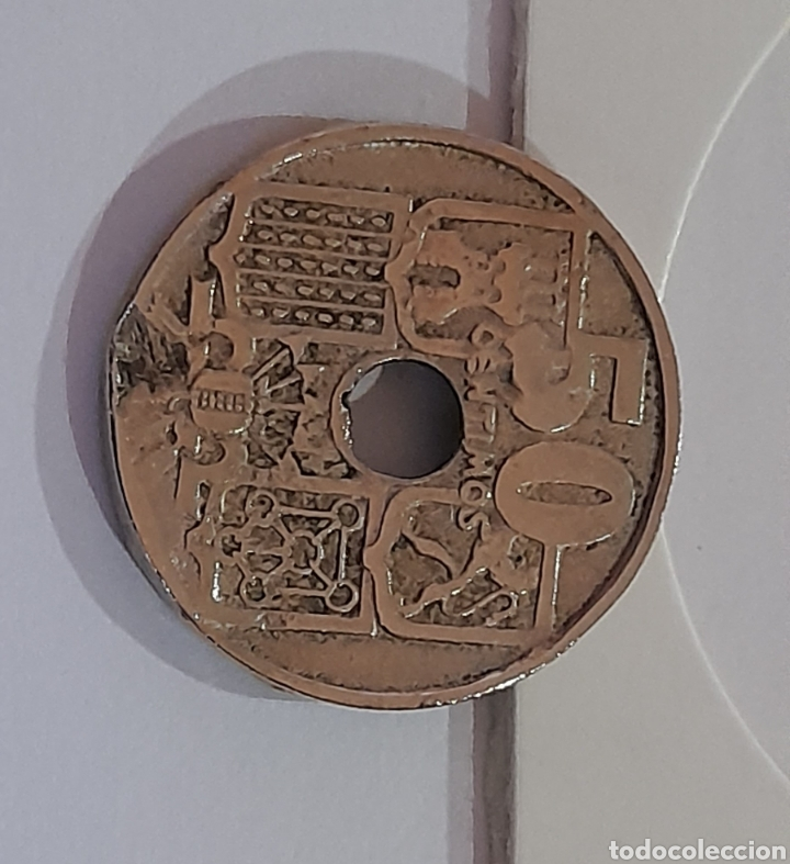 Monedas con errores: 50 Céntimos 1949 *E *51 con error de acuñación. Ver fotos y descripción. - Foto 7 - 243024110