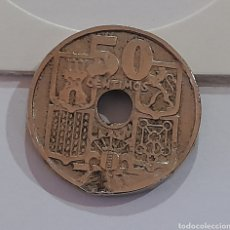 Monedas con errores: 50 CÉNTIMOS 1949 *E *51 CON ERROR DE ACUÑACIÓN. VER FOTOS Y DESCRIPCIÓN.. Lote 243024110
