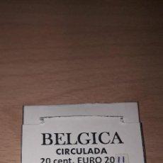 Monedas con errores: 10-00352-BELGICA- 20 CENT € -2011- CUÑO ROTO EN LA JUNTA DEL 20. Lote 243066080