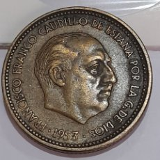 Monete con errori: 2.5 PESETAS ERROR 1953*54 FRANCO. VER FOTOS.. Lote 243191570