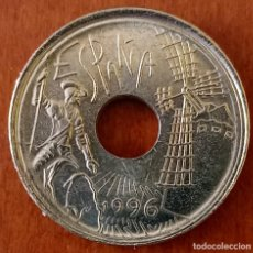 Monedas con errores: ESPAÑA 25 PESETAS 1996 CASTLLA LA MANCHA - VARIEDAD. Lote 243612365