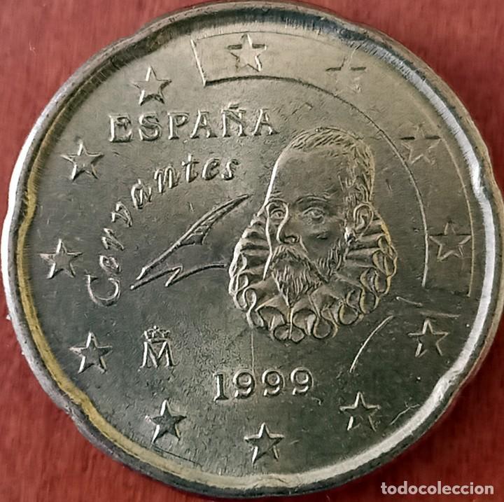 ESPAÑA 0,20 CENT DE EURO 1999 - VARIEDAD (Numismática - España Modernas y Contemporáneas - Variedades y Errores)