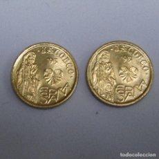 Monedas con errores: LOTE DE DOS MONEDAS DE 5 PESETAS ,1993, JACOBEO. UNA,CON VARIANTE DE CUÑO EN EL 5. SC.. Lote 243946790