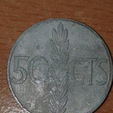 Monedas con errores: ERROR IMPRESION DOBLE CARA 50 CENTIMOS 1966. Lote 244607595