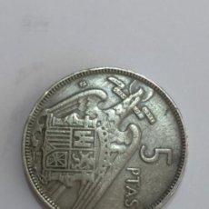 Monedas con errores: * ERROR * 5 PESETAS AÑO 1957*59 REVERSO GIRADO 90• A LA DERECHA. Lote 250219940