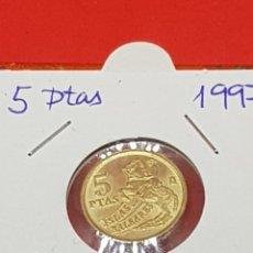 Moedas com erros: 5 PESETAS 1997 VARIANTE 5ª PATA S/C. Lote 252907440
