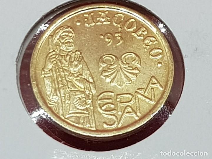 Monedas con errores: 5 PESETAS 1993 VARIANTE CUÑO XACOBEO-LA DEL CINCO- S/C - Foto 2 - 252908130
