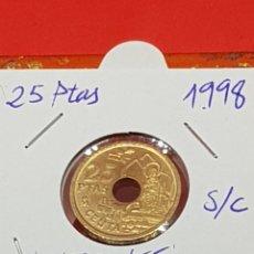 Monedas con errores: 25 PESETAS 1998 VARIANTE OFRENDA A LA VIRGEN S/C. Lote 252909260