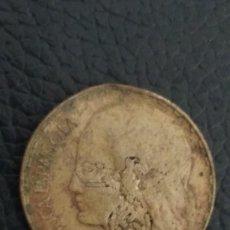 Monnaies avec erreurs: RESELLO 1 PESETA 1937 CON RESELLO. Lote 252934780