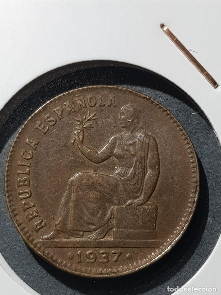 Monedas con errores: 50 CÉNTIMOS 1937 II REPÚBLICA VARIANTE ORLAS CUADRADAS - Foto 2 - 252982765