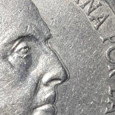 Monedas con errores: 100 PESETAS PLATA 1966 (*67) DOBLE PERFIL NARIZ,OREJA Y BARBILLA MUY MARCADOS- ESCASA VARIANTE. Lote 252984875