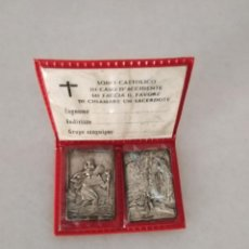 Monedas con errores: RARO LOTE MEDALLA RELIGIOSA SOY CATÓLICO EN CASO DE ACCIDENTE. Lote 253749885