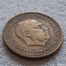 Monedas con errores: (ESPAÑA)(1947*19*53)(ERROR-HOJITAS) 1 PESETA ESTADO ESPAÑOL. Lote 256001435