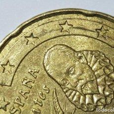 Monedas con errores: 20 CÉNTIMOS DE EURO 2008 ERROR 'BANDA UNIENDO ESTRELLAS' ANVERSO. Lote 257315635