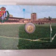 Monedas con errores: RARA TARJETA MEDALLITA MUNDIAL ESPAÑA 82 ESTADIO ZORRILLA VALLADOLID. Lote 259331825
