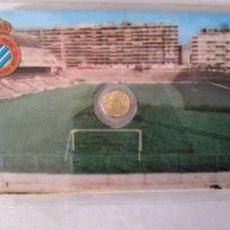 Monedas con errores: RARA TARJETA MEDALLITA MUNDIAL ESPAÑA 82 RCD ESPAÑOL. Lote 259332465
