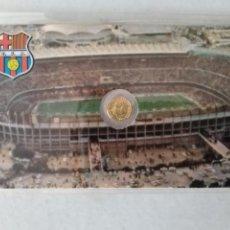Monedas con errores: RARA TARJETA MEDALLITA MUNDIAL ESPAÑA 82 FC BARCELONA. Lote 259332665