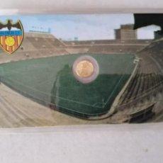 Monedas con errores: RARA TARJETA MEDALLITA MUNDIAL ESPAÑA 82 FC VALENCIA. Lote 259333190