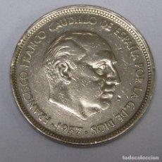 Monedas con errores: MONEDA DE 50 PESETAS. AÑO 1957. UNA LIBRE GRANDE, EN EL CANTO.. Lote 260032085