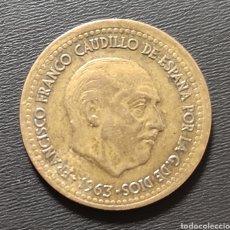 Monedas con errores: 1 PESETA DE FRANCO 1963. Lote 262268695