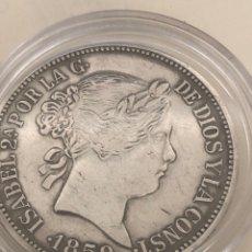 Monedas con errores: MONEDA ISABEL 2A 1859 - PIERA PLATA DE JOYERIA. Lote 262938925