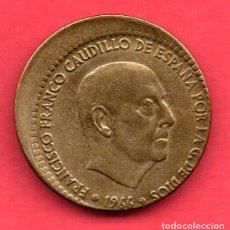 Monedas con errores: BONITO DESPLAZAMIENTO - 1 PESETA 1966 * 67. Lote 263012305
