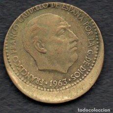 Monedas con errores: ERROR - BONITO DESPLAZAMIENTO - PESETA 1963 * 64. Lote 269048248