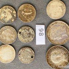 Monedas con errores: LOTE DE MONEDAS DE PLATA , ITALIA , BOLIVIA , PORTUGAL , CHILE , FRANCIA , ARGENTINA. Lote 270527903