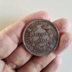 Monedas con errores: RARA MEDALLA PREMIO AL MÉRITO CENTRO ARTÍSTICO MUSICAL BARCELONA.. Lote 270964633